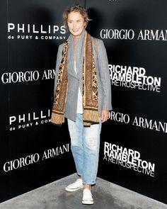Shop+this+look+on+Lookastic:+https://lookastic.com/women/looks/blazer-crew-neck-t-shirt-boyfriend-jeans-plimsolls-scarf/13381+  —+Grey+Vertical+Striped+Blazer+ —+White+Crew-neck+T-shirt+ —+Tan+Print+Scarf+ —+Light+Blue+Boyfriend+Jeans+ —+White+Plimsolls+