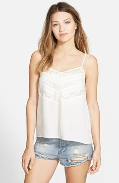 Leith+Lace+Chevron+Camisole+available+at+#Nordstrom