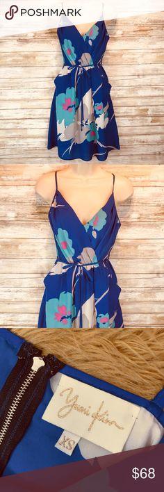 7467cb788eb524 Yumi Kim blue floral adjustable strap dress sz XS Yumi Kim floral dress  adjustable strap tie belt sz XS LENGTH MEASURE FROM ARMPIT TO HEM  (EXCELLENT ...