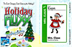 Mrs. Claus promo card for Holiday Fluxx! The newest in the Fluxx line. Get yours here! CatMonkeyGames@aol.com