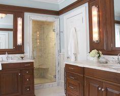 Luxury Master Bath Contractor - Sarah Blank Design Studios Offers Luxury Master Bath Design In Stamford CT, Palm Beach FL & The Surrounding Areas. Pelham Manor, Palm Beach Fl, Luxury Kitchens, Bath Design, Kitchen And Bath, Master Bath, Vanity, Mirror, Interior Design