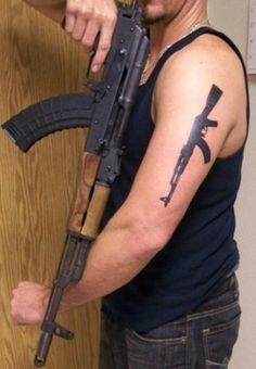 Ak47 Simple But Awesome Tattoo