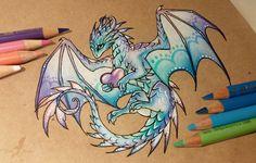 Magic love dragon by AlviaAlcedo.deviantart.com on @DeviantArt
