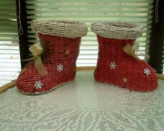 čižmy Paper Basket, Basket Weaving, Advent, Christmas Stockings, Wicker, Projects To Try, Blog, Diy Crafts, Holiday Decor