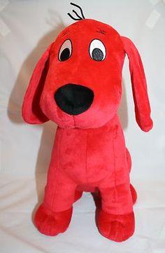 "Kohls Red Clifford Dog 2011 Plush Sitting 13"" Stuffed Animal Toy Cares For Kids"