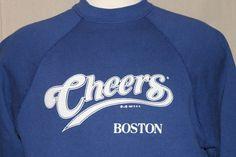 Cheers Sweatshirt TV Show Boston Bar Tavern Blue Unisex Adult XL Vintage 1987