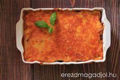 Diétás rakott padlizsán- padlizsán lasagne Quiche, Breakfast, Ethnic Recipes, Food, Lasagna, Morning Coffee, Essen, Quiches, Meals