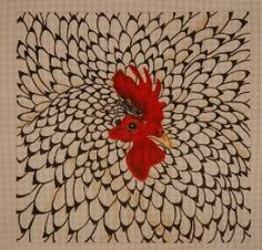 Rooster/this is not Brush Painting but I thought it wonderful.,
