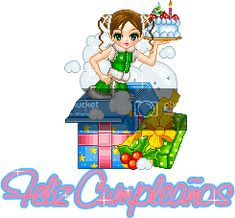 tarta cumpleanos Gifs, Luigi, Mickey Mouse, Fictional Characters, Happy Birthday Funny, Birthday Cakes, Cute Drawings, Michey Mouse, Fantasy Characters