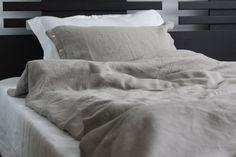 Softened linen duvet cover | linen bedding with button clousure | natural grey linen sheet | pure linen flax bedding in handmade