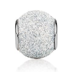 Sterling silver and silver glitter charm. Available at Michael Hill Charm Boutiques. (SKU 11850892) #MichaelHill
