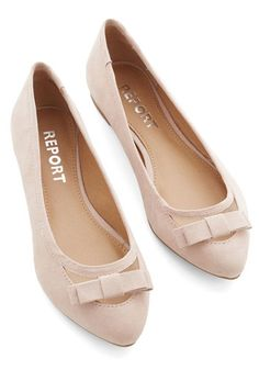 Shall We Dance? Flat in Sand - Flat, Faux Leather, Solid, Bows, Party, Work, Daytime Party, Better, Variation, Cream