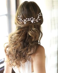 Rose Gold Floral Wedding Hair Piece