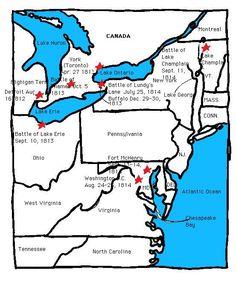 Major battles of War of 1812  #history