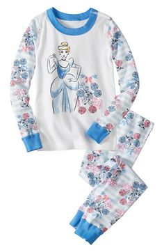 Hanna Andersson 'Disney™ Princess - Cinderella' Two-Piece Fitted Pajamas (Toddler Girls) available at #Nordstrom