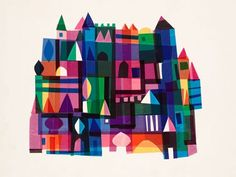 """Oopsy daisy, Fine Art for Kids presents Disney® """"It's a Small World - Castle Facade"""" wall art for children $119"""