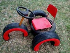 It& a cool way to make old tires play equipment # . This is a cool way to make old tires play equipment equipment