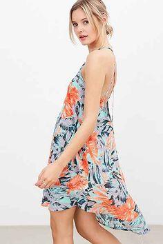 Ecote V-Neck Strappy-Back High/Low Dress