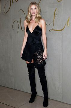 Rosie Huntington Whiteley in Thigh-High Boots.
