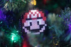 Bügelperlen Iron Beads Super Mario Super Mario, Christmas Ornaments, Holiday Decor, Home Decor, Art, Christmas Tree, Hairstyle, Christmas, Dekoration
