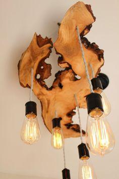 wood slab light fixture