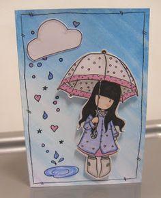Lynsey's Crafts: Gorjuss Girls Puddles of Love Card