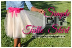 Do you have a Tulle Skirt in your closet? Well if the answer is no you have to check out this Simple DIY Tulle Skirt Tutorial!!! This tutorial is so easy it will make you wonder what took you so long to make one for yourself!!!