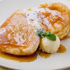I feel like a cafe at home ♪ Fluffy pancakes - I feel like a cafe at home ♪ Fluffy pancakes - Love Eat, Love Food, Desserts Japonais, Healthy Desayunos, Breakfast Recipes, Dessert Recipes, Mini Foods, Snacks, No Cook Meals