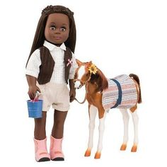 Our Generation Doll Foal Horse - Pinto Paso Accessories Saddle Bridle Feed NEW #OurGeneration