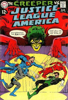 Justice League of America #70 (Mar '69) cover by Neal Adams. #comics #JLA #Creeper