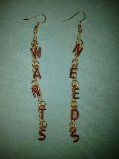 Haiku D' Etat WANTS VS NEEDS Earrings by LitteredNation on Etsy, $20.00    **CUSTOM ORDERS GLADLY ACCEPTED**