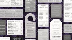 Thirteen takes on the typographic menu.