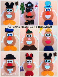 Disney Felt Potato Heads - For a quiet book!