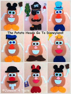 Disney Felt Potato Heads - For a quiet book!