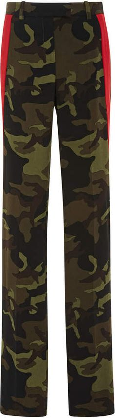 Side Stripe Straight-Leg Track Trouser by Michael Kors Collection Camouflage Pants, Michael Kors Collection, Sporty Chic, Athletic Pants, Trousers, Pajama Pants, Legs, Track, Fashion Design