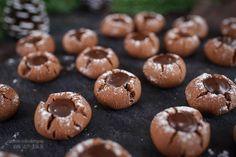Mokka Kugeln mit Zartbitterkern / sehr zart & mürbe / kahveli kurabiye