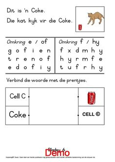 Grade R Worksheets, Linked List, Safety Posters, Afrikaans, Kids Education, Medium, Homeschool, Early Education, Homeschooling