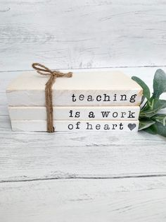 Items similar to Teacher gift book set on Etsy - The Effective Pictures We Offer You About DIY decorating for teen rooms A quality picture can tell - Diy Old Books, Old Book Crafts, Teacher Books, Student Teacher, Teacher Stuff, Folded Book Art, Book Folding, Farmhouse Books, Teacher Gifts