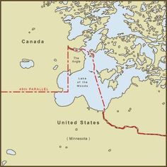 """Minnesota's """"Northwest Angle"""" is only accessible by land if you drive through Canada."""