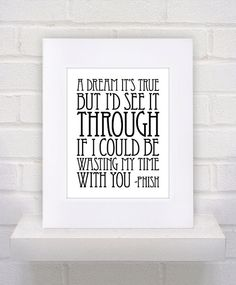 Phish Lyrics  Waste  11x14  poster print by KeepItFancy on Etsy, $10.00