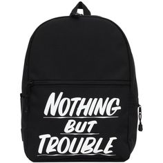 070e23026 Nothing But Trouble Black Backpack (190 BRL) ❤ liked on Polyvore featuring  bags,. Mochila MasculinaMochila PretaMochilas ...