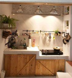 Kitchen Room Design, Home Room Design, Home Decor Kitchen, Kitchen Furniture, Kitchen Interior, Home Kitchens, Small Kitchen Layouts, Kitchen Sets, Minimalist House Design