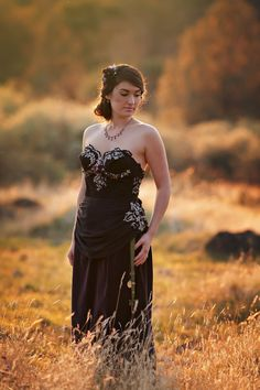 Black and Purple Victorian Wedding Gown Black by HopefullyRomantic