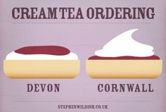 Cornish Cream Tea....and it tastes different depending how you do it