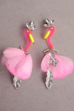 MUVEIL. Flamingo Earrings.