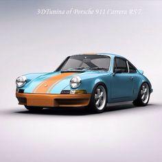Porsche 911 all dressed up. Porsche 911 Singer, 1973 Porsche 911, Porsche Boxster, Porsche Sports Car, Porsche Cars, My Dream Car, Dream Cars, Dream Machine, Car Images