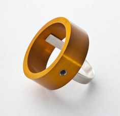 Aluminium Ring €87 - Filip Vanas Contemporary Jewellery, Modern Jewelry, Jewelry Art, Jewelry Rings, Design Crafts, Metal Art, Rings For Men, Lovely Things, Dublin