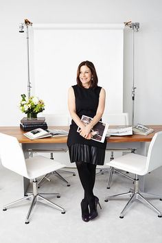 Hero Status: Meet The Female CEO Who Majorly Inspires #Refinery29 I pinned this twice because I love it so much for so many reasons.  Not the least of which is this is the best way I've seen to wear leather to the office all season