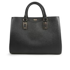 BOSS | Black Mila Printed Leather Shopper Bag  (via Coggles.com)
