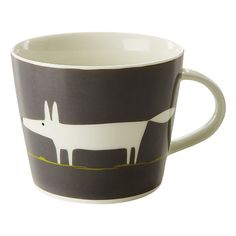 Buy Scion Mr Fox Mug, 0.35L, Charcoal & Lime Online at johnlewis.com